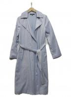 LAUTRE AMONT(ロートレアモン)の古着「ストレッチスエードラップコート」 ブルー