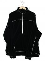 KIIT(キート)の古着「プルオーバーベロアジャケット」|ブラック