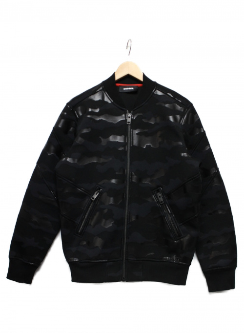 DIESEL(ディーゼル)DIESEL (ディーゼル) カモフラフライトジャケット ブラック サイズ:Sの古着・服飾アイテム