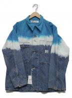 DAIRIKU(ダイリク)の古着「Gradation Dyeing Cover All」 ブルー