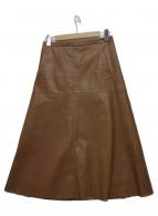 23区(ニジュウサンク)の古着「シンサティックレザースカート」|ブラウン
