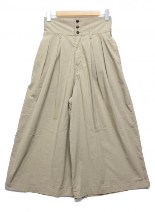 HARVESTY(ハーベスティー)HARVESTY (ハーベスティ) トラベルタイプライターハイライズキュロット ベージュ サイズ:1 A21903-1の古着・服飾アイテム