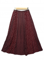 Droite lautreamont(ドロワットロートレアモン)の古着「ドットパネルスカート」|ボルドー