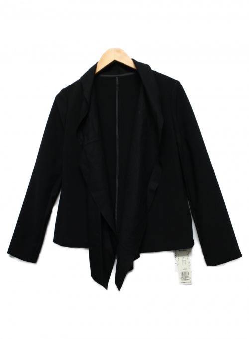 LAUTRE AMONT(ロートレアモン)LAUTRE AMONT (ロートレアモン) ブロッキングドレープジャケット ブラック サイズ:38 3105-65099の古着・服飾アイテム