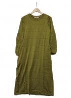 mina perhonen(ミナペルホネン)の古着「カットソーワンピース」|オリーブ