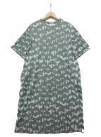 mina perhonen(ミナペルホネン)の古着「カットソーワンピース」|グリーン