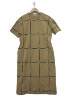 mina perhonen(ミナペルホネン)の古着「カットソーワンピース」|ベージュ