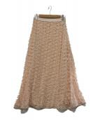 furfur(ファーファー)の古着「リボンマテリアルスカート」|ピンク