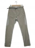 and wander(アンドワンダー)の古着「fleece base pants」 グレー