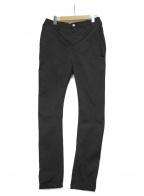 wjk(ダブルジェイケー)の古着「ストレッチサテンカーブスキニーパンツ」|ブラック
