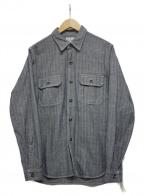THE REAL McCOYS(ザ リアルマッコイズ)の古着「デニムヘリンボーンシャツ」 インディゴ