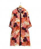 SHIZUKA KOMURO(シズカコムロ)の古着「フラワープリントワンピース」|オレンジ