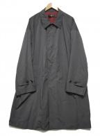 +J(プラス ジェイ)の古着「オーバーサイズステンカラーコート」|ブラック