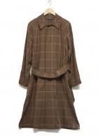 ()の古着「ステンカラーコート」|ブラウン