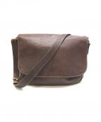土屋鞄(ツチヤカバン)の古着「トーンヌメショルダーバッグ」 ブラウン
