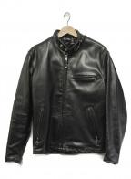 Schott(ショット)の古着「ホースハイドシングルライダースジャケット」 ブラック