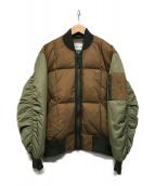 ()の古着「撥水性ツートーンキルティングボンバージャケット」|ブラウン