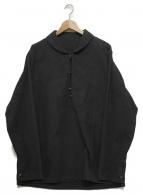Porter Classic(ポータークラシック)の古着「コットンロングスリーブシャツ」|ブラック