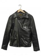 RUDE GALLERY BLACK REBEL(ルードギャラリー ブラックレーベル)の古着「ライダースジャケット」 ブラック