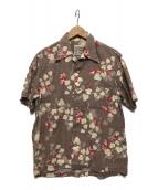 STUDIO DARTISAN(ステュディオ・ダ・ルチザン)の古着「アロハシャツ」|ベージュ