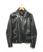 666(トリプルシックス)の古着「ライダースジャケット」|ブラック