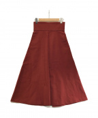 CLANE(クラネ)の古着「ワイドベルトボリュームスカート」|レッド
