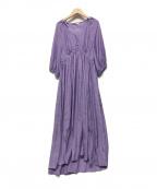DOUBLE STANDARD CLOTHING(ダブルスタンダードクロージング)の古着「ワッシャーサテンワンピース」 パープル