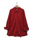 JANE SMITH(ジェーンスミス)の古着「ビッグシャツ」|レッド