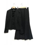 Leilian(レリアン)の古着「シルク混セットアップスーツ」|ブラック