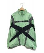 SUPREME(シュプリーム)の古着「Cross Paneled Track Jacket」|グリーン