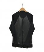 ato(アトゥ)の古着「レザー切替ジャケット」 ブラック