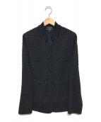 ()の古着「ニットジャケット」|ネイビー