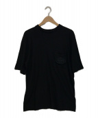 PRADA(プラダ)の古着「ロゴ刺繍ポケットTシャツ」|ブラック
