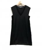 MARELLA(マレーラ)の古着「ノースリーブVネックワンピース」|ブラック