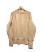loin.(ロワン)の古着「天竺クルーネックセーター」|ベージュ
