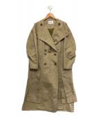 ENFOLD(エンフォルド)の古着「COピーチツイルライナートレンチコート」|ベージュ