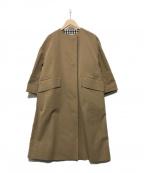 YORI()の古着「ストレッチチノコート」|ベージュ