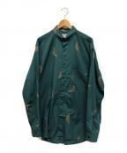 EMPORIO ARMANI EA7(エンポリオアルマーニ イーエーセブン)の古着「【古着】タブカラーシャツ」|ブルー