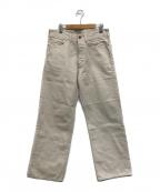 ATLAST & CO(アットラスト)の古着「シンチバック5ポケットパンツ」 ホワイト