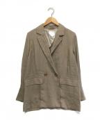 BABYLONE(バビロン)の古着「リネンテーラードジャケット」|ブラウン
