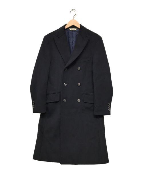 Paul Stuart(ポールスチュアート)Paul Stuart (ポールスチュアート) ダブルピークドコート ネイビー サイズ:48の古着・服飾アイテム