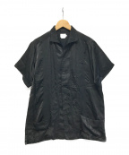 FILL THE BILL(フィルザビル)の古着「シルク混キューバシャツ」|ブラック