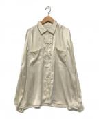 FILL THE BILL(フィルザビル)の古着「SATIN CHINA SHIRTS」|ベージュ