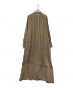 AKTE(アクテ)の古着「ボリュームロングシャツワンピース」|ベージュ