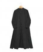 PLAIN PEOPLE(プレインピープル)の古着「シャツワンピース」|ブラック