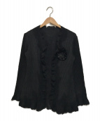 NOKO OHNO(ノコオーノ)の古着「プリーツカーディガン」|ブラック
