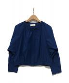ANAYI(アナイ)の古着「ノーカラーブルゾン」 ブルー