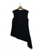 SHIZUKA KOMURO(シズカコムロ)の古着「ノースリーブサイドジップブラウス」|ブラック