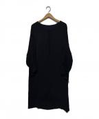SHIZUKA KOMURO(シズカコムロ)の古着「ワイドスリーブワンピース」|ブラック