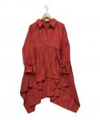 SHIZUKA KOMURO(シズカコムロ)の古着「バッグロングシャツプルオーバー」|レッド